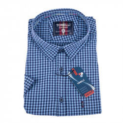 Oceľovo modrá košeľa Tonelli 110850