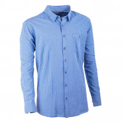 Modrmodrá kocka košeľa 100% bavlna Tonelli 110970