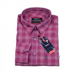 Bordó Kockovaná košeľa Tonelli 110972