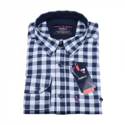 Modrá Kockovaná košeľa Tonelli 110977