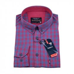 Modro vínová Kockovaná košeľa Tonelli 110978