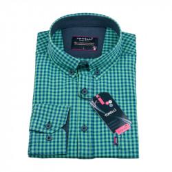 Zelenomodrá Kockovaná košeľa Tonelli 110979