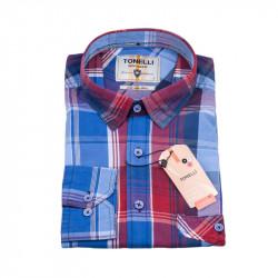 Modrá biela Kockovaná košeľa Tonelli 110980