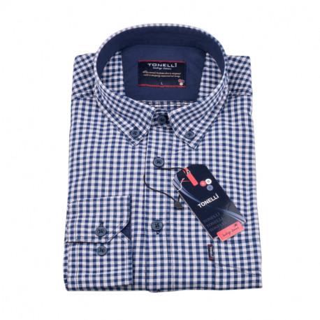 Modrá Kockovaná košeľa Tonelli 110981