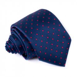 Modrá kravata s bodkami Greg 94953