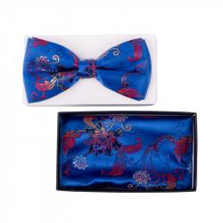 Pánsky motýlik farba modrá Assante 90318