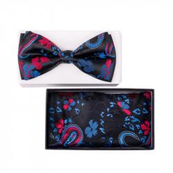Pánsky motýlik farba modrá-čierna Assante 90321