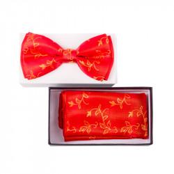 Pánsky motýlik farba červená - zlatá Assante 90329