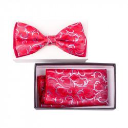 Pánsky motýlik farba červená - šedá Assante 90331