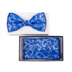 Pánsky motýlik farba modrá Assante 90343