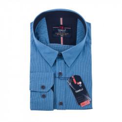 Modrá kockovaná košeľa Tonelli 110985