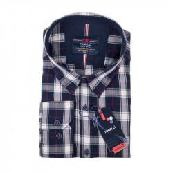 Čiernošedá kockovaná košeľa Tonelli 110989
