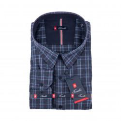 Šedá károvaná košeľa Tonelli 110995