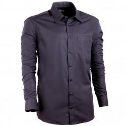 Extra predĺžená nadmerná košeľa čierna Assante 21025