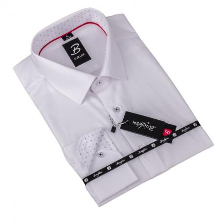 Košeľa Brighton biela prúžok 110001