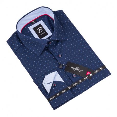 Košeľa Brighton modrobiely vzor 110019
