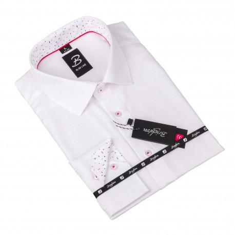 Košeľa Brighton biela s plastickým vzorom 110099