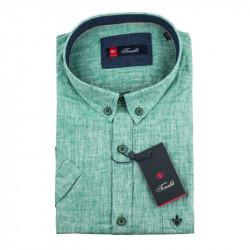 Pánska košeľa zelená krátky rukáv Tonelli 110866