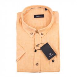 Pánska košeľa oranžová krátky rukáv Tonelli 110867