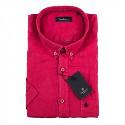 Pánska košeľa červená krátky rukáv Tonelli 110868