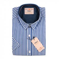 Pánska košeľa modrobiela krátky rukáv Tonelli 110870