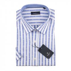 Pánska košeľa modrobiela krátky rukáv Tonelli 110871