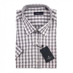 Pánska košeľa šedobiela krátky rukáv Tonelli 110872
