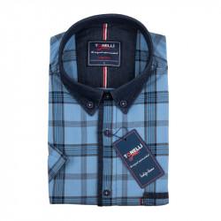 Pánska košeľa modrá krátky rukáv Tonelli 110873