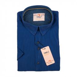 Pánska košeľa modrá krátky rukáv Tonelli 110874