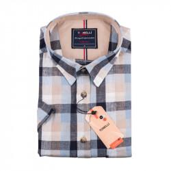 Pánska košeľa modrošedá krátky rukáv Tonelli 110875