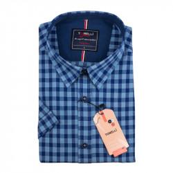 Pánska nadmerná košeľa modrá krátky rukáv Tonelli 110884