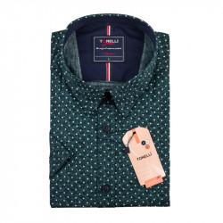 Pánska nadmerná košeľa zelená krátky rukáv Tonelli 110886