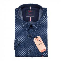 Pánska nadmerná košeľa modrá krátky rukáv Tonelli 110887