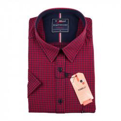Pánska nadmerná košeľa červená krátky rukáv Tonelli 110890