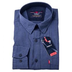 Pánska košeľa modrá dlhý rukáv Tonelli 110916