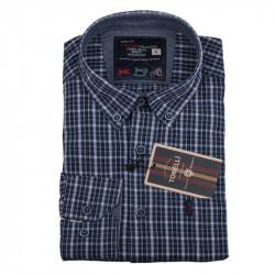 Pánska košeľa modrá dlhý rukáv Tonelli 110919