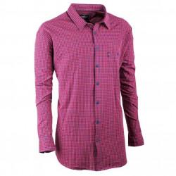 Pánska košeľa červená dlhý rukáv Tonelli 110922