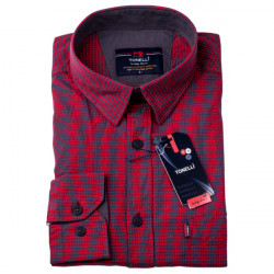 Pánska košeľa červená dlhý rukáv Tonelli 110923