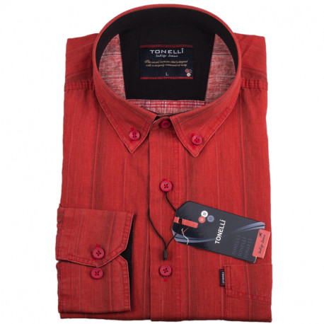 Pánska košeľa oranžová dlhý rukáv Tonelli 110927