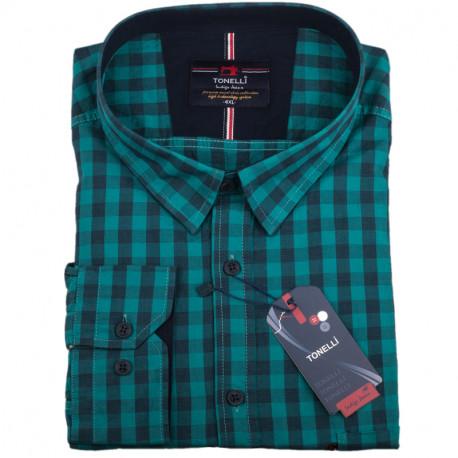 Pánska košeľa zelená dlhý rukáv Tonelli 110928