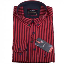 Pánska košeľa červená dlhý rukáv Tonelli 110931
