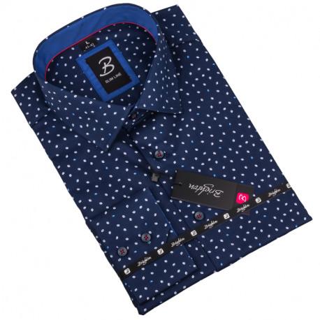 Košeľa Brighton modrá biely puntík 110032