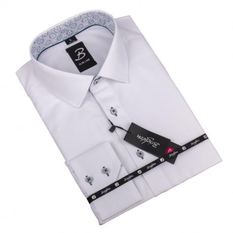 Nadmerná košeľa biela vzor Brighton 110041