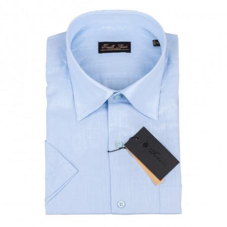 Pánska košeľa modrá krátky rukáv Tonelli 110823